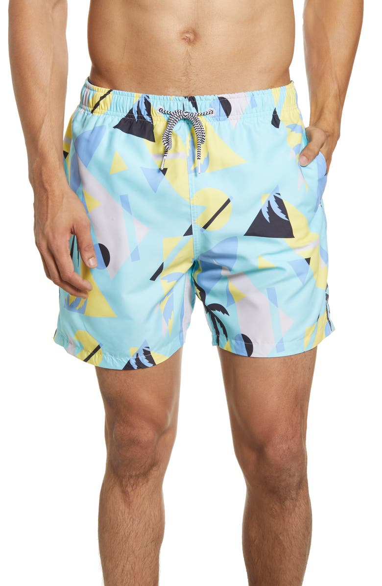BOARDIES Overlay Mint Swim Trunks, Main, color, 300