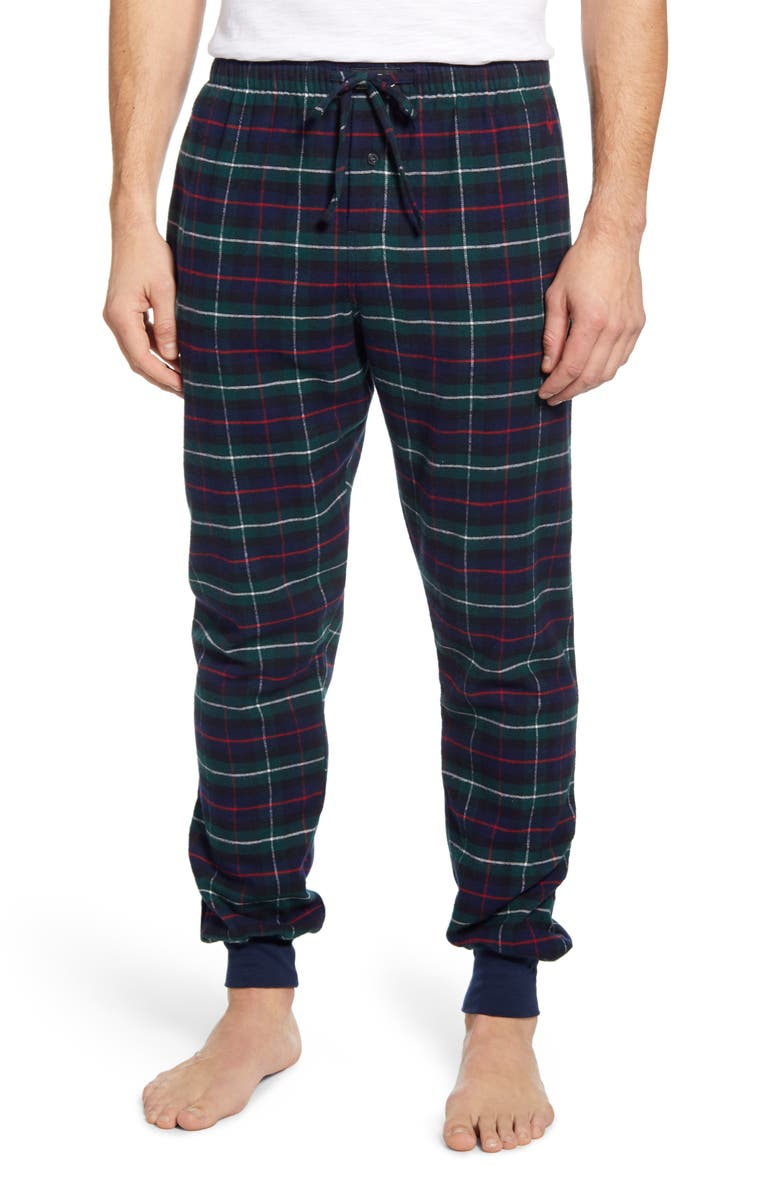 POLO RALPH LAUREN Plaid Flannel Jogger Pajama Bottoms, Main, color, 006