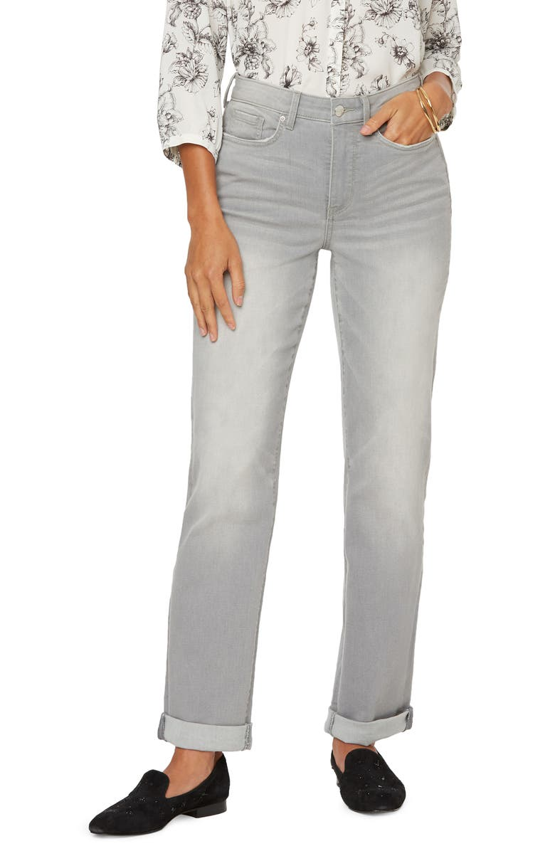 NYDJ Roll Cuff Relaxed Straight Leg Jeans, Main, color, GRACE