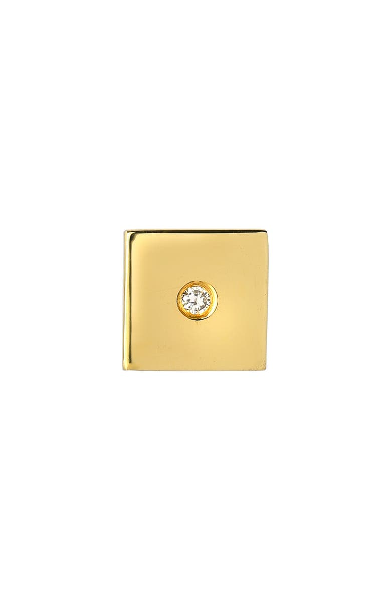 MINI MINI JEWELS Forever Collection - Square Diamond Stud Earring, Main, color, YELLOW GOLD