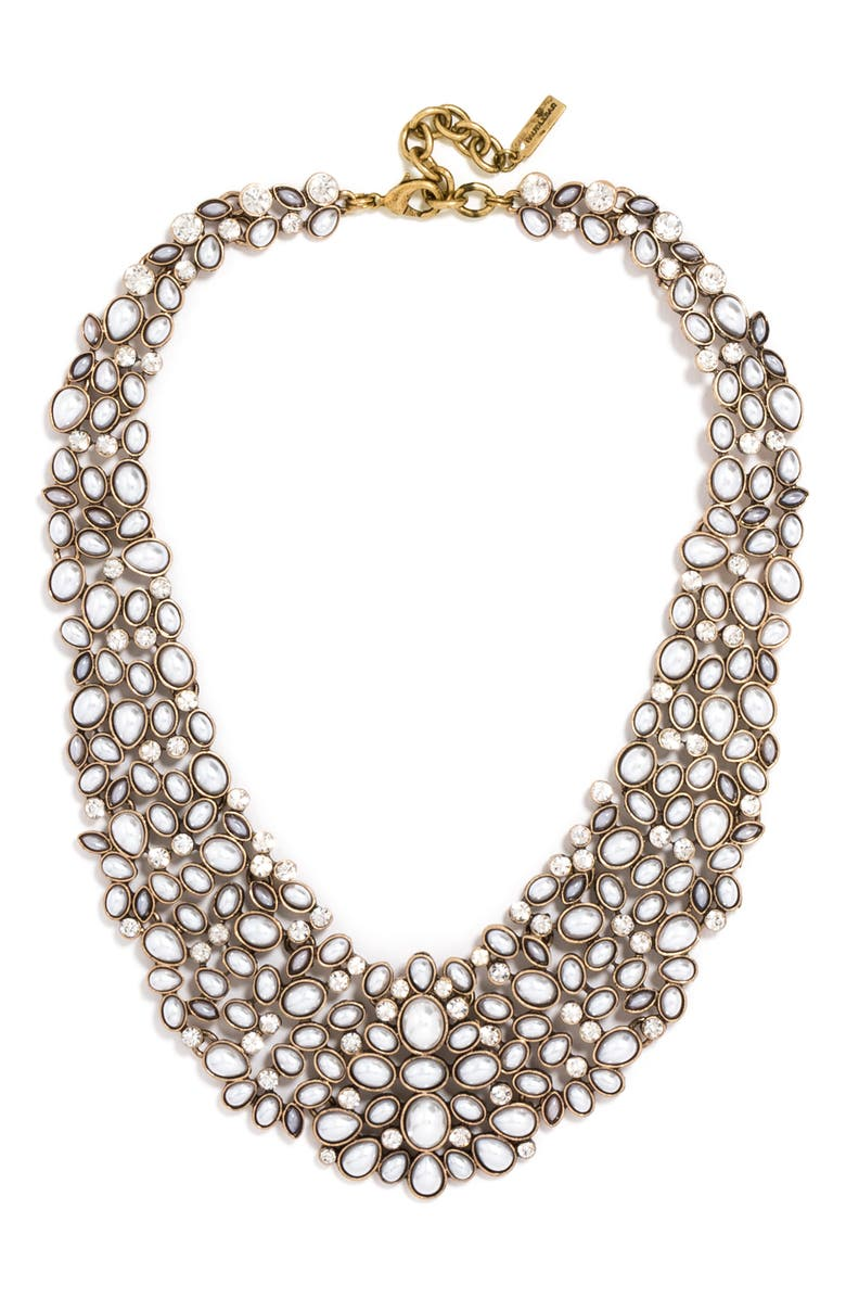 BAUBLEBAR 'Kew' Crystal Collar Necklace, Main, color, PEARL/ GOLD