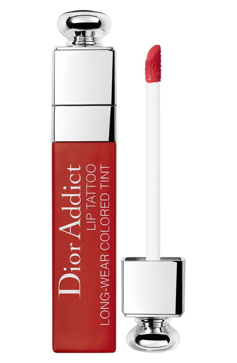 DIOR Addict Lip Tattoo Long-Wearing Liquid Lip Stain, Main, color, 661 NATURAL RED