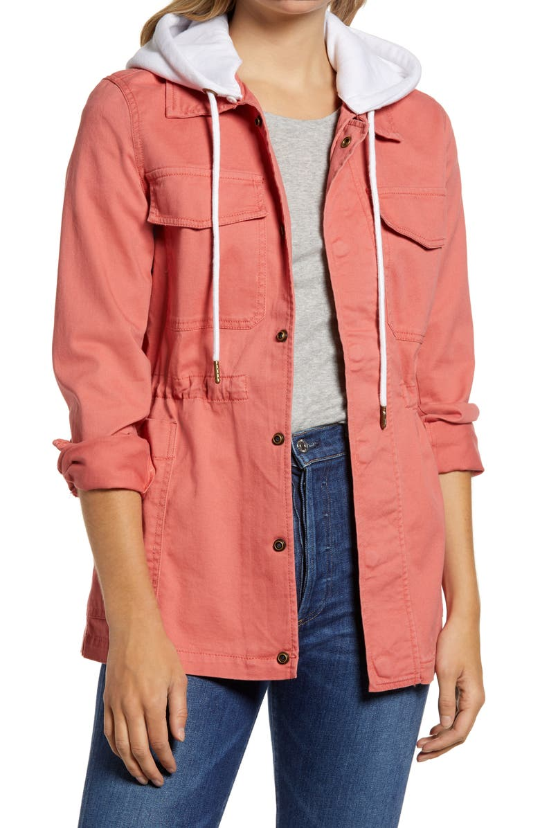 CASLON<SUP>®</SUP> Hooded Utility Jacket, Main, color, 958