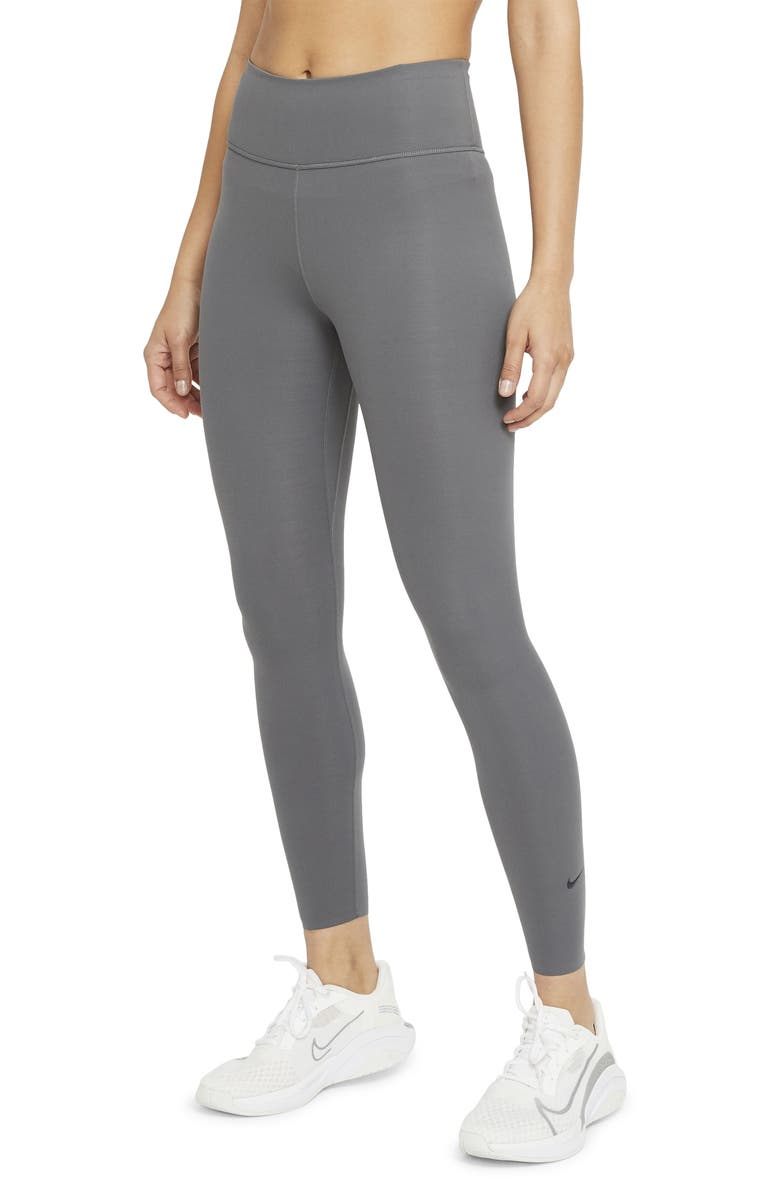 NIKE One Lux 7/8 Tights, Main, color, IRON GREY/ CLEAR
