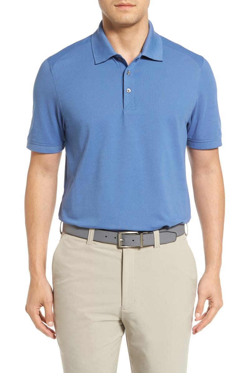 CUTTER & BUCK Advantage Golf Polo, Main, color, SEA BLUE