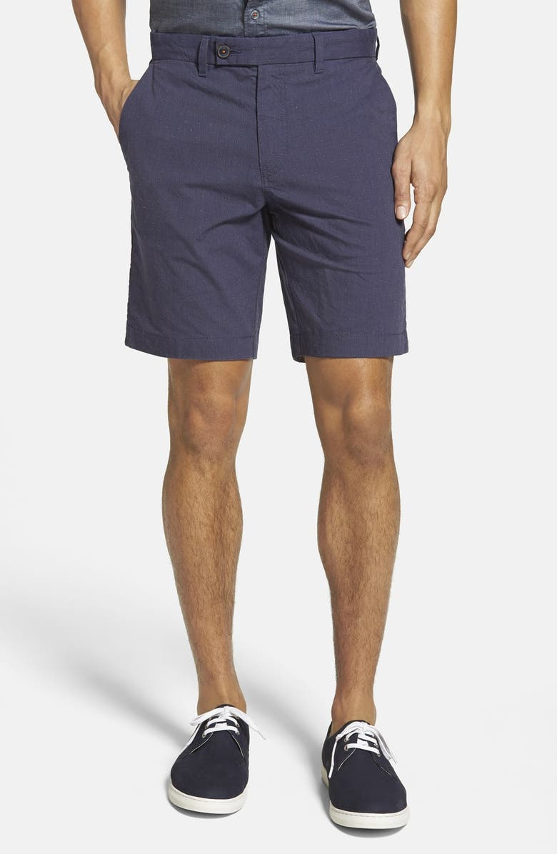 TED BAKER LONDON 'Noroed' Slim Fit Dobby Shorts, Main, color, NAVY
