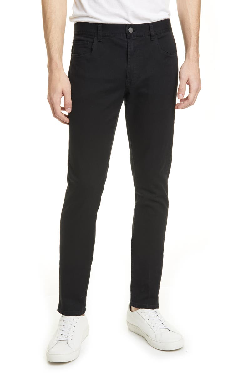 MONCLER Slim Straight Pants, Main, color, 001
