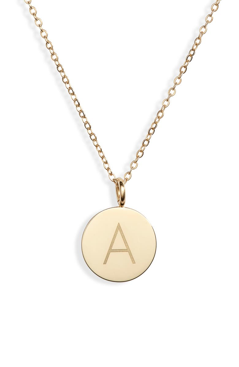KNOTTY Initial Charmy Necklace, Main, color, GOLD - A