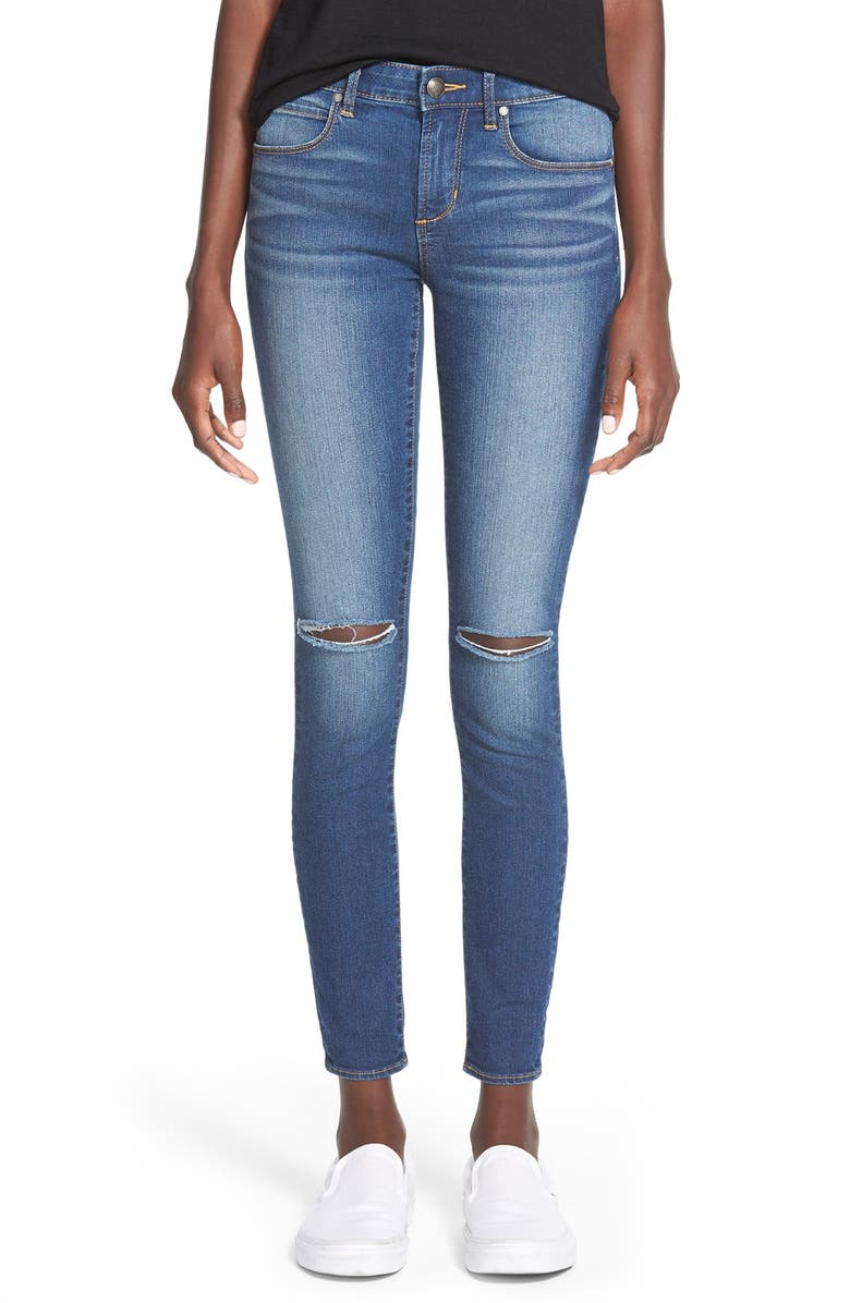 ARTICLES OF SOCIETY 'Sarah' Distressed Skinny Jeans, Main, color, 400
