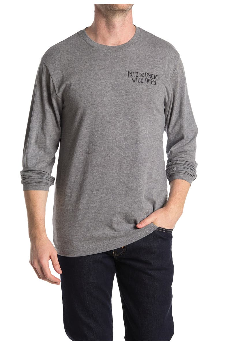 THE NORMAL BRAND Wide Open Long Sleeve T-Shirt, Main, color, OLIVE