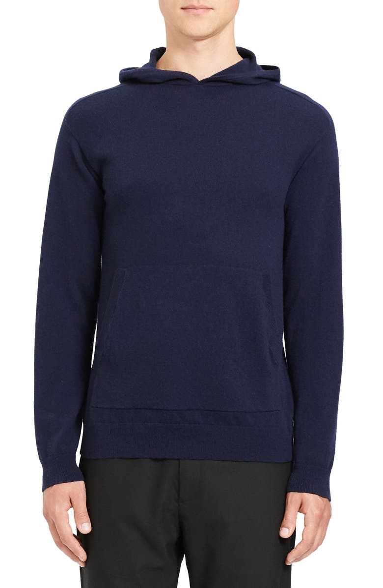 THEORY Alcos Slim Fit Cashmere Hoodie, Main, color, 497