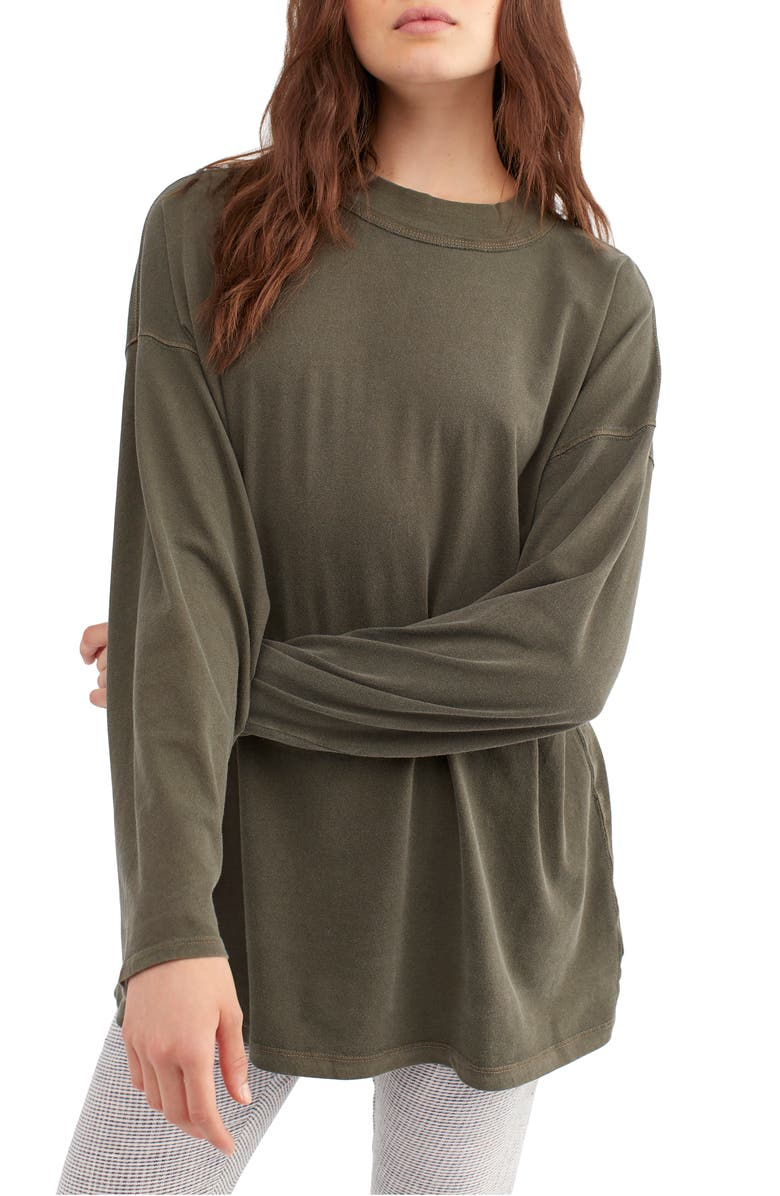FREE PEOPLE We the Free by Free People Be Free Tunic T-Shirt, Main, color, ARMY