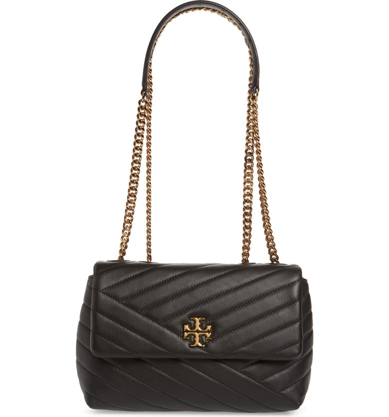 TORY BURCH Kira Chevron Quilted Small Convertible Leather Crossbody Bag, Main, color, 001