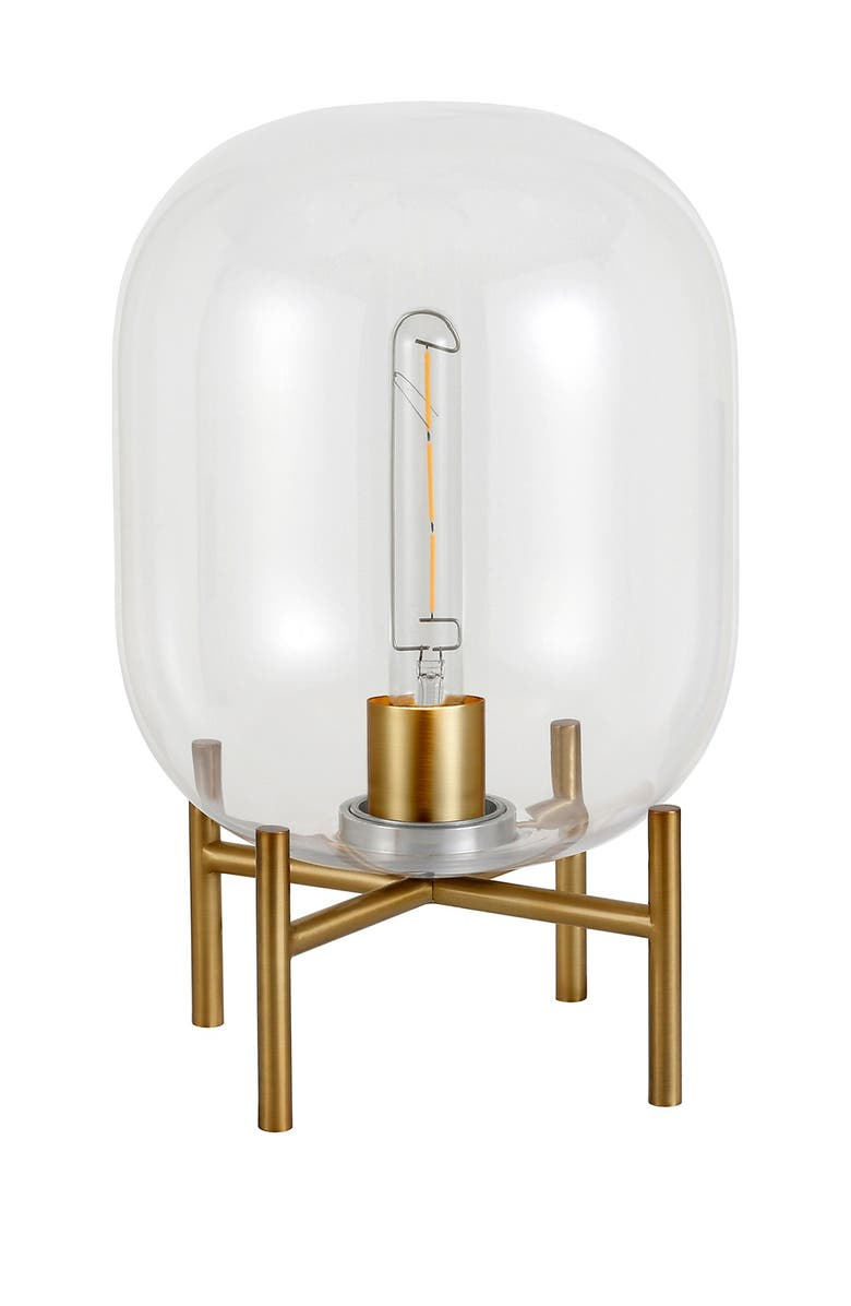 ADDISON AND LANE Edison Glass and Brass Table Lamp, Main, color, BRASS