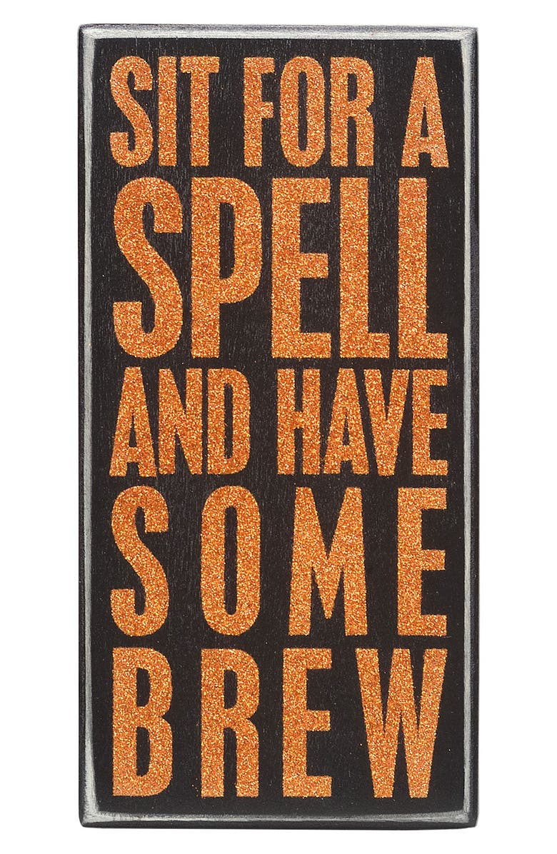 PRIMITIVES BY KATHY 'Sit for a Spell and Have Some Brew' Box Sign, Main, color, 001