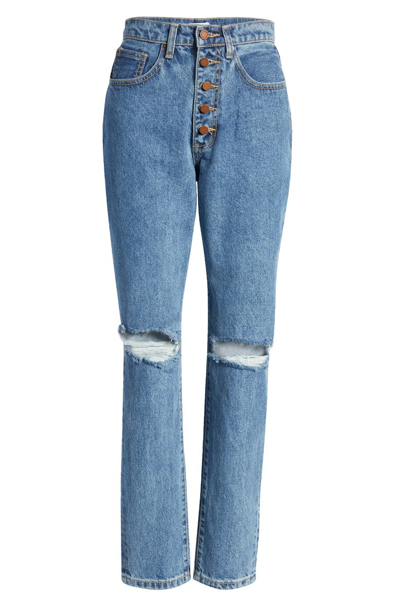WEWOREWHAT The Danielle Straight Leg Jeans, Main, color, SPRING ST