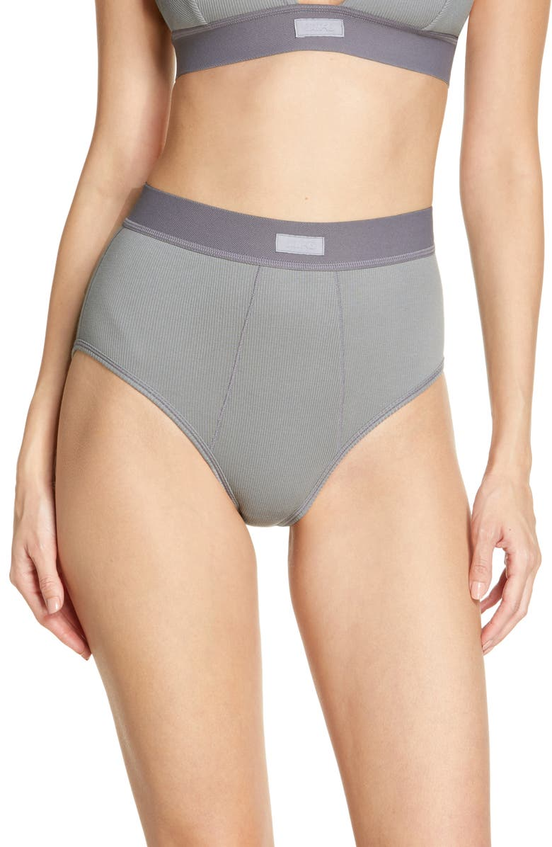 SKIMS Cotton Rib Briefs, Main, color, PACIFIC
