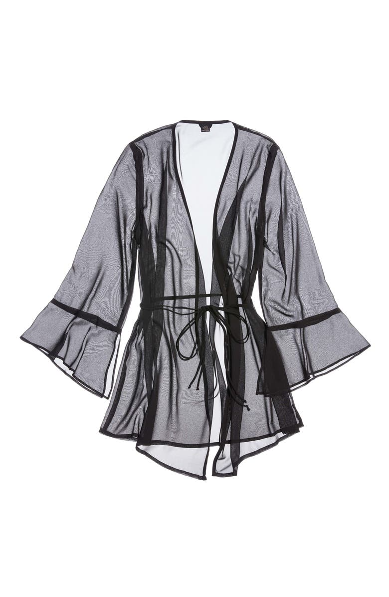 ONLY HEARTS Coucou Lola Mesh Wrap, Main, color, BLACK