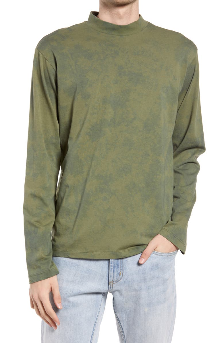 NATIVE YOUTH Tie Dye Long Sleeve T-Shirt, Main, color, GREEN