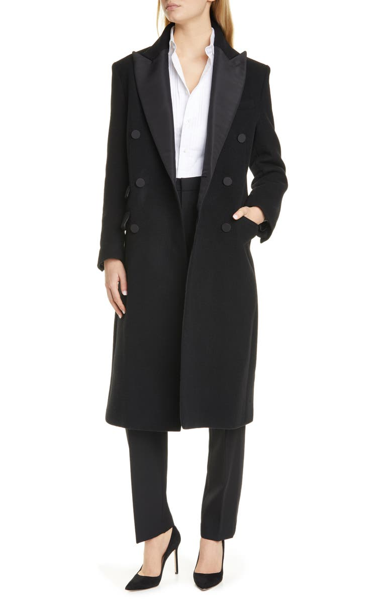 POLO RALPH LAUREN Tux Double Breasted Coat, Main, color, 001