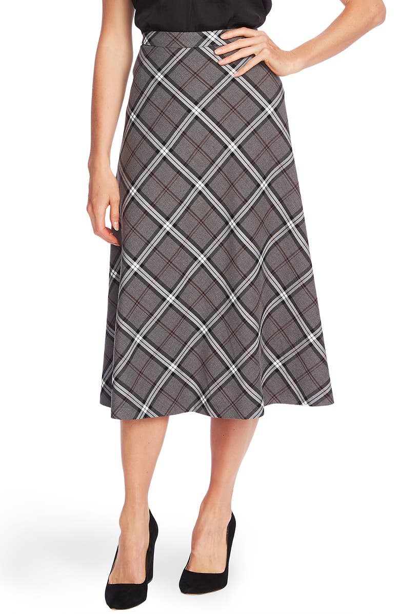 VINCE CAMUTO Bold Plaid Skirt, Main, color, 023
