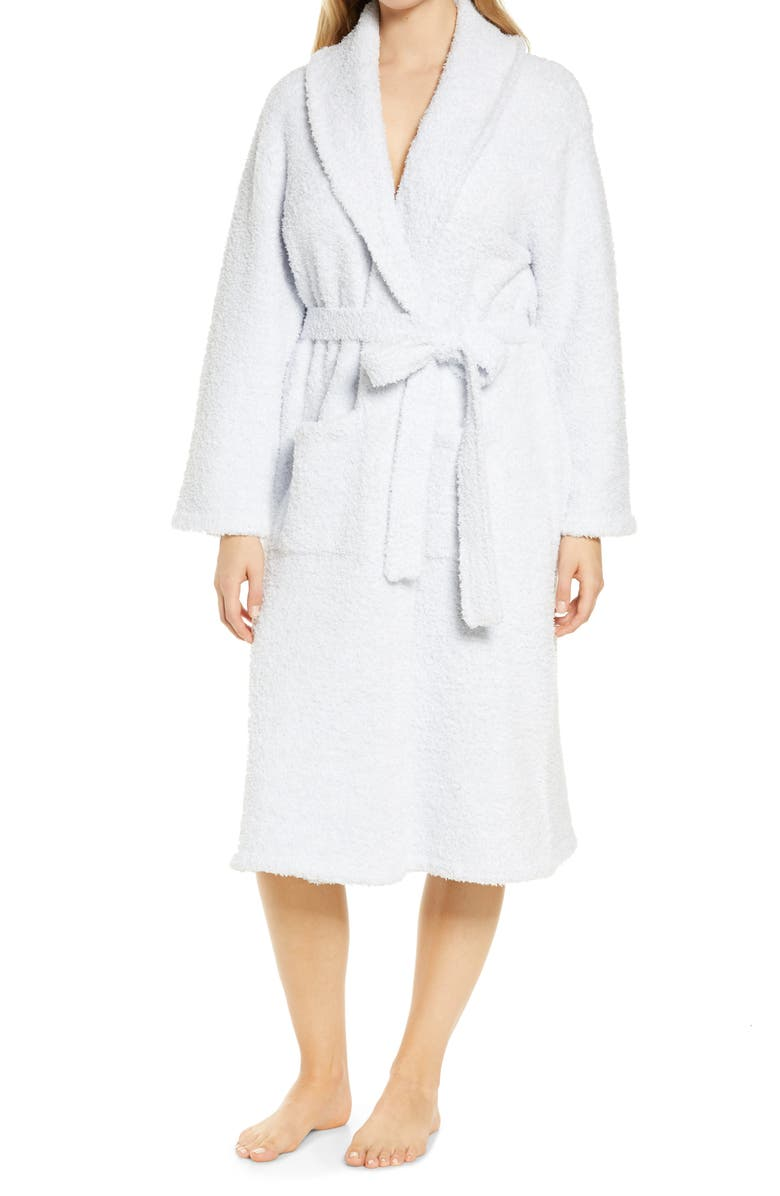 BAREFOOT DREAMS<SUP>®</SUP> CozyChic<sup>®</sup> Unisex Robe, Main, color, BLUE-WHITE