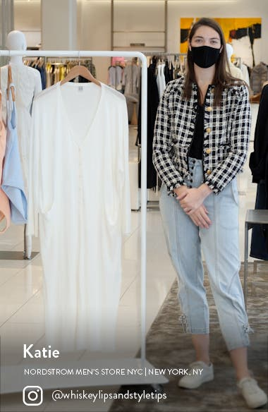 Long Sleeve Cover-Up Cotton Dress, sales video thumbnail