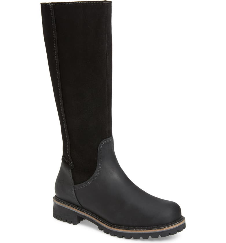BOS. & CO. Hudson Waterproof Boot, Main, color, BLACK LEATHER/ SUEDE