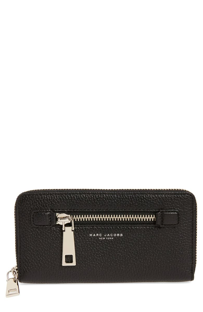 MARC JACOBS 'Gotham' Leather Continental Wallet, Main, color, 002