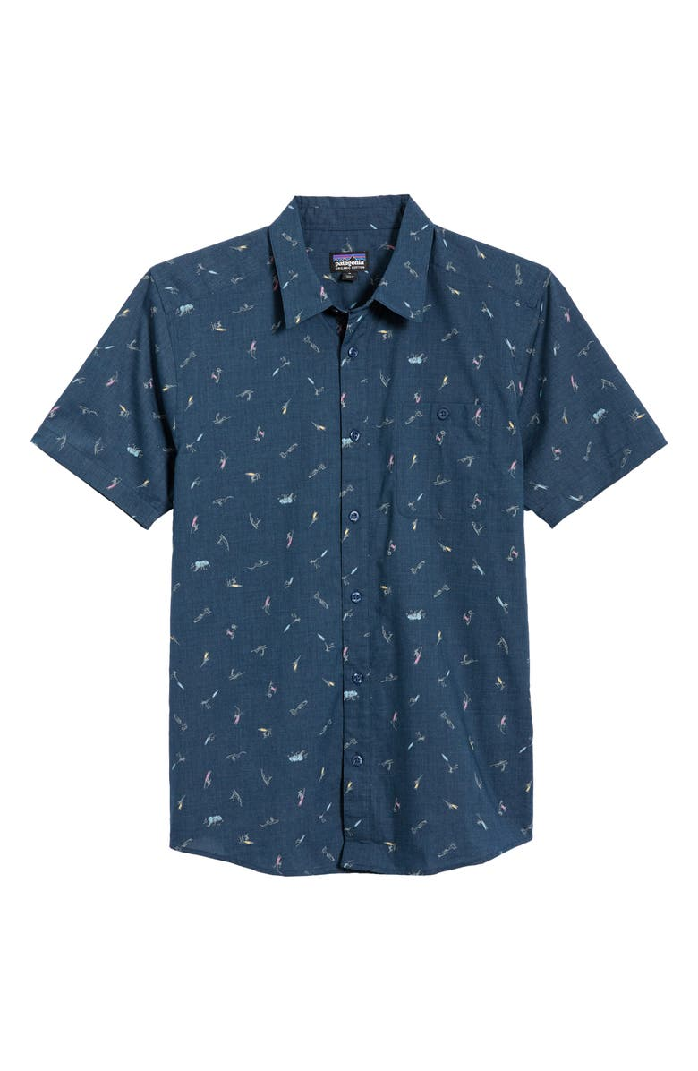 PATAGONIA Go To Regular Fit Short Sleeve Shirt, Main, color, SURFERS/ STONE BLUE