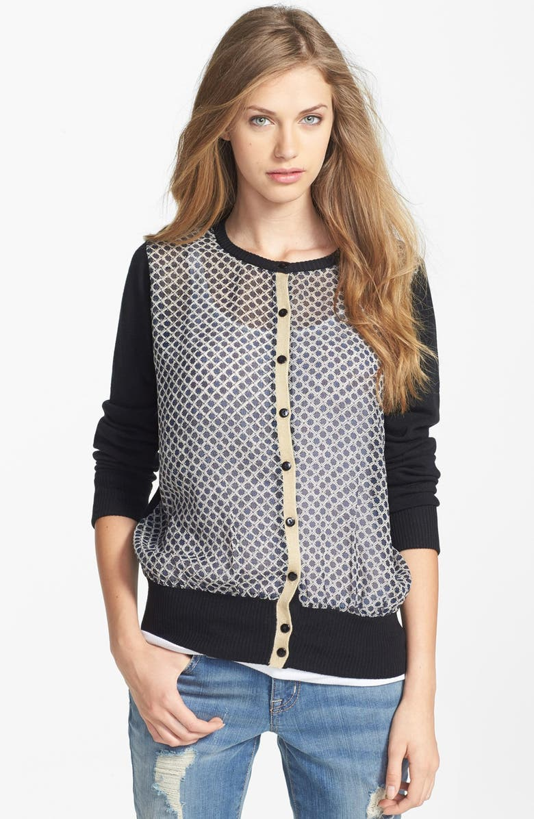 RD STYLE Research & Design Woven Front Cardigan, Main, color, 001