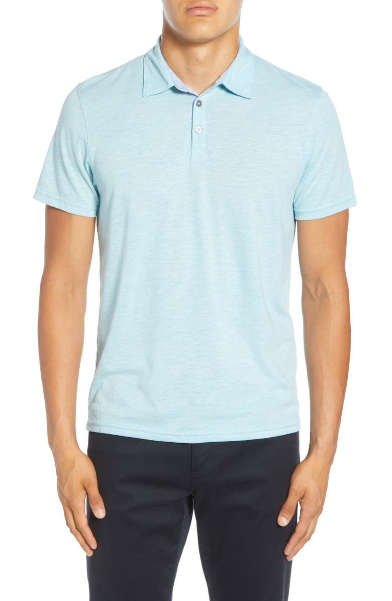 ZACHARY PRELL Liff Regular Fit Slub Polo, Main, color, 440