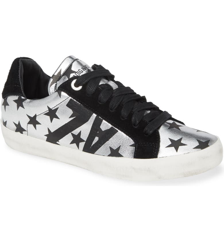ZADIG & VOLTAIRE Used Lace-Up Sneaker, Main, color, 041