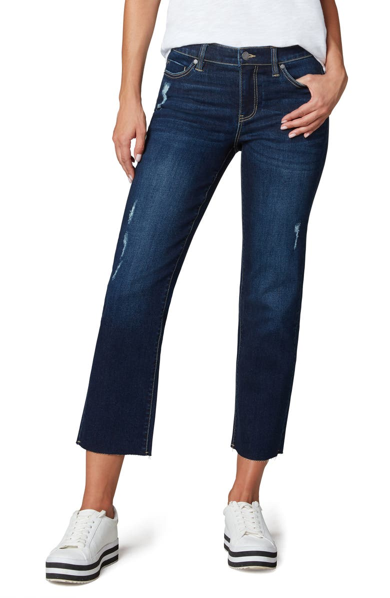 LIVERPOOL LOS ANGELES x Living in Yellow Cut Hem Ankle Straight Leg Jeans, Main, color, CASSIDY