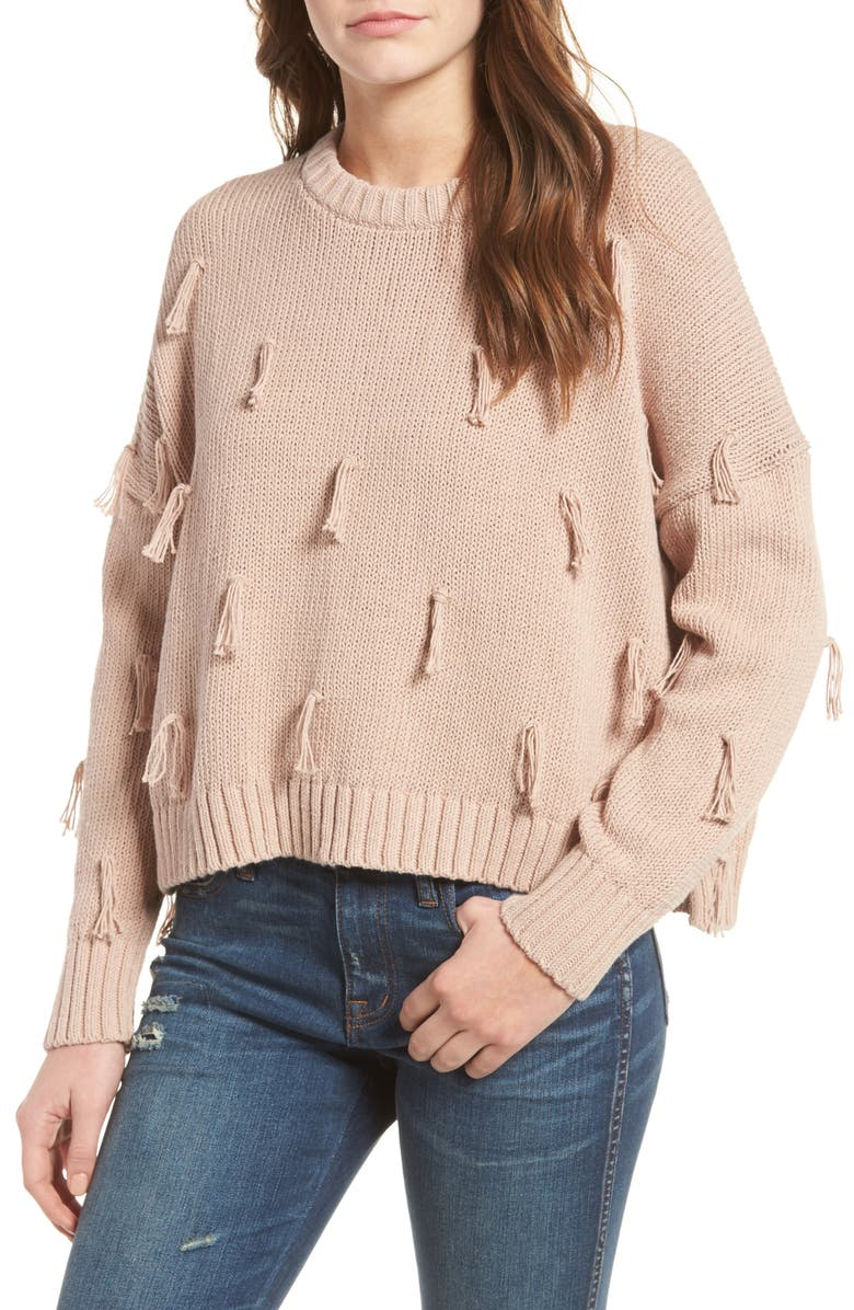 MADEWELL Tassel Pullover Sweater, Main, color, 900