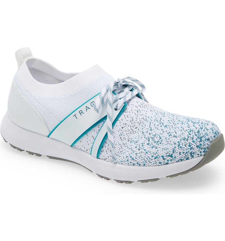 TRAQ BY ALEGRIA Alegria Qool Water Resistant Knit Sneaker, Main, color, WHITE MULTI LEATHER