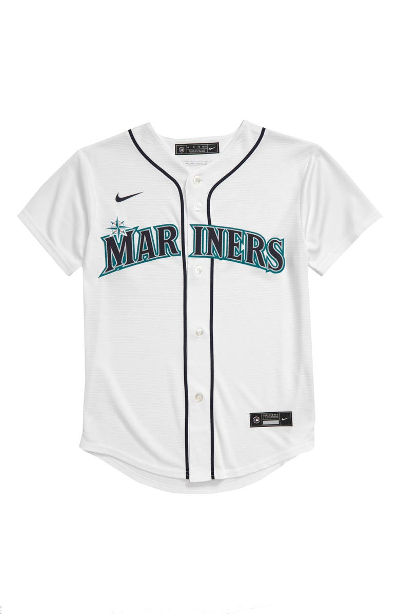 MLB LOGO x Nike Seattle Mariners Home Jersey, Main, color, 100