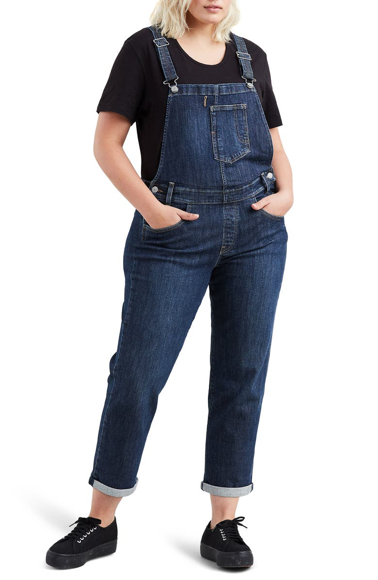 LEVI'S<SUP>®</SUP> Denim Overalls, Main, color, EASY DARK OVERALL T2