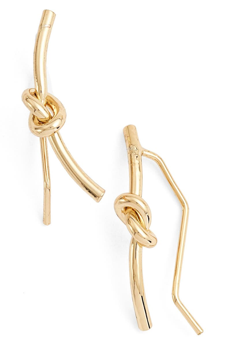 JULES SMITH 'Delicate Knot' Ear Crawlers, Main, color, Gold