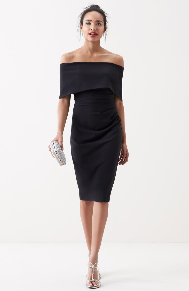 VINCE CAMUTO Popover Cocktail Dress, Main, color, 001