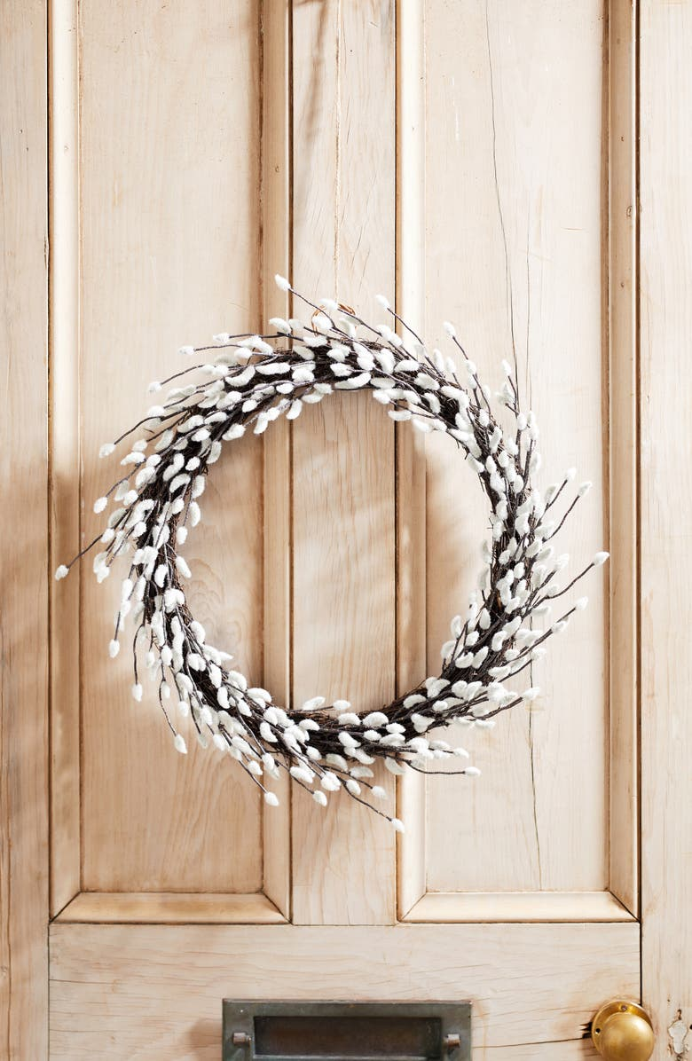 THE WHITE COMPANY Pussy Willow Wreath, Main, color, NATURAL