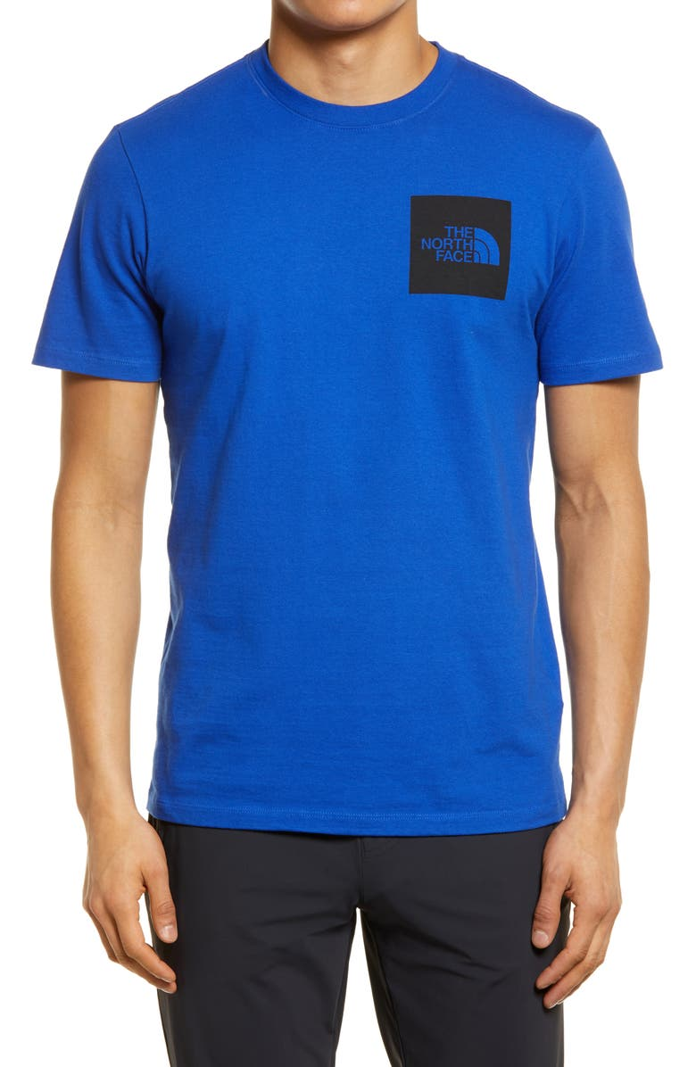 THE NORTH FACE Fine Logo Graphic Tee, Main, color, BLUE