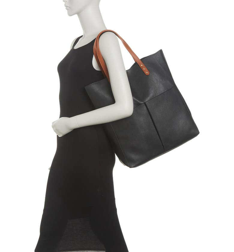 SOLE SOCIETY Lucie Tote, Main, color, BLACK COMBO
