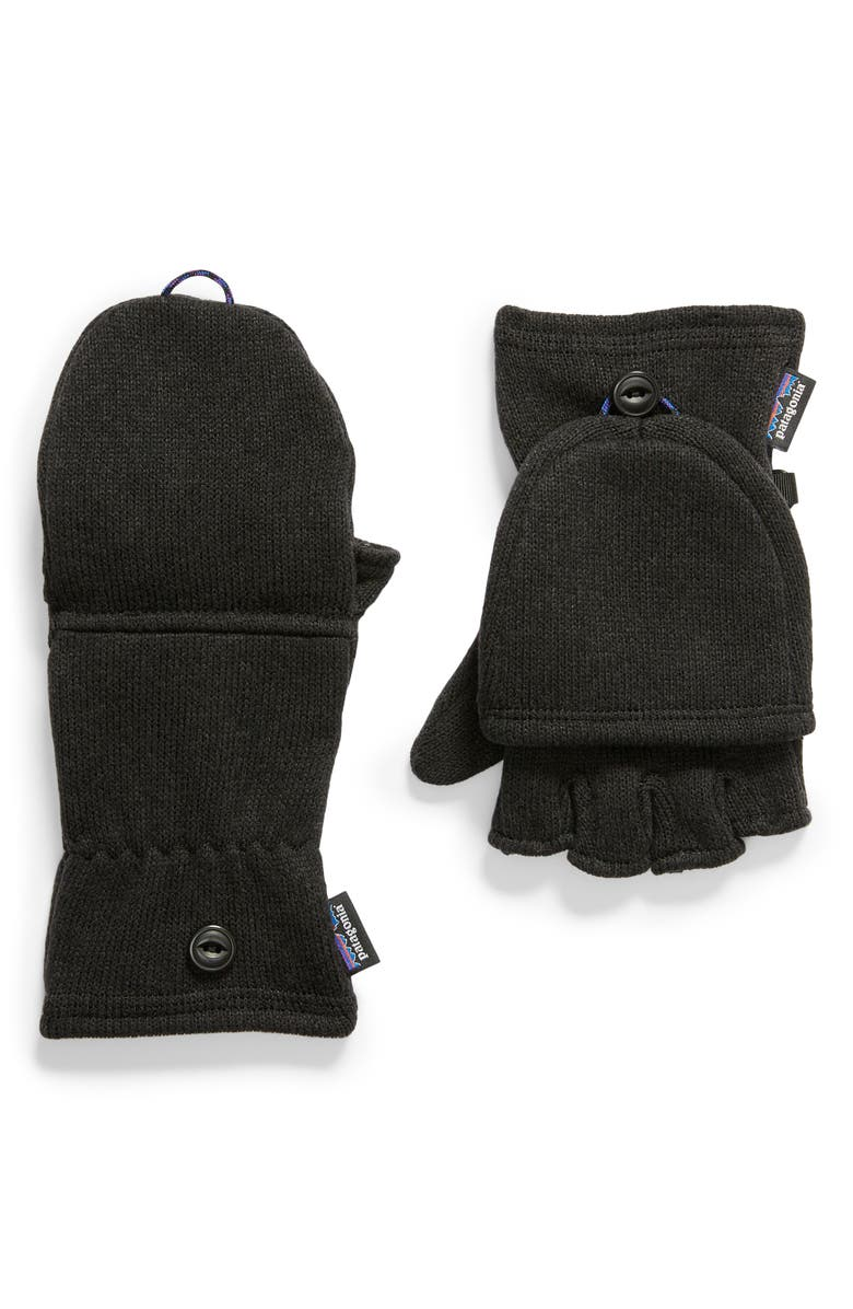 PATAGONIA Better Sweater<sup>®</sup> Gloves, Main, color, BLACK BLACK