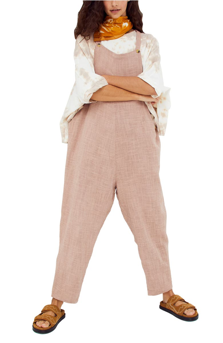 FREE PEOPLE Sezanne Sleeveless Jumpsuit, Main, color, SMOKED MULBERRY