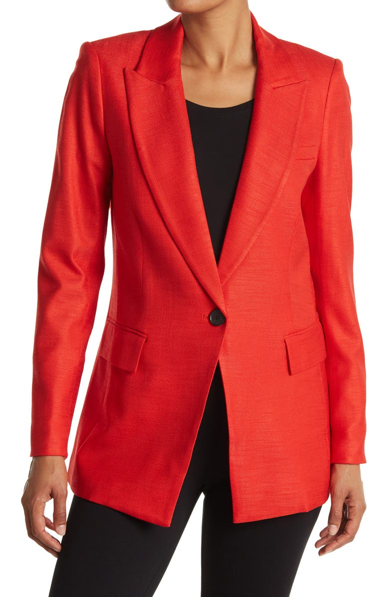 VERONICA BEARD Long And Lean Dickey Jacket, Main, color, RED