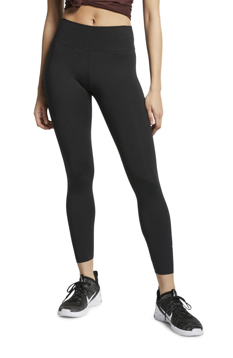 NIKE One Lux 7/8 Tights, Main, color, BLACK/ CLEAR