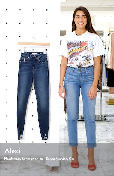 Good Waist Distressed High Waist Ankle Skinny Jeans, sales video thumbnail