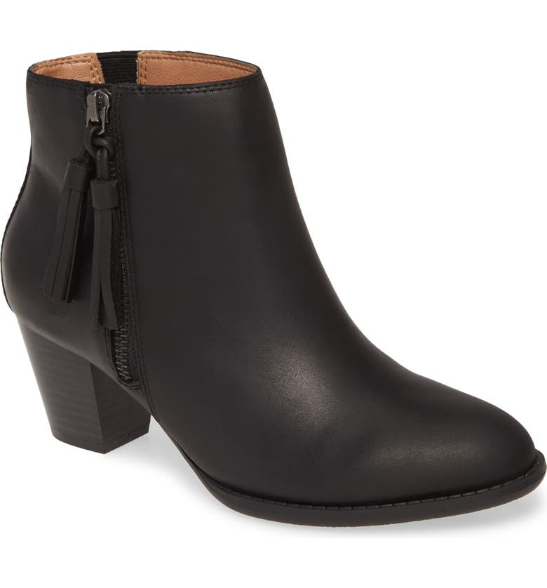 VIONIC Madeline Bootie, Main, color, BLACK LEATHER