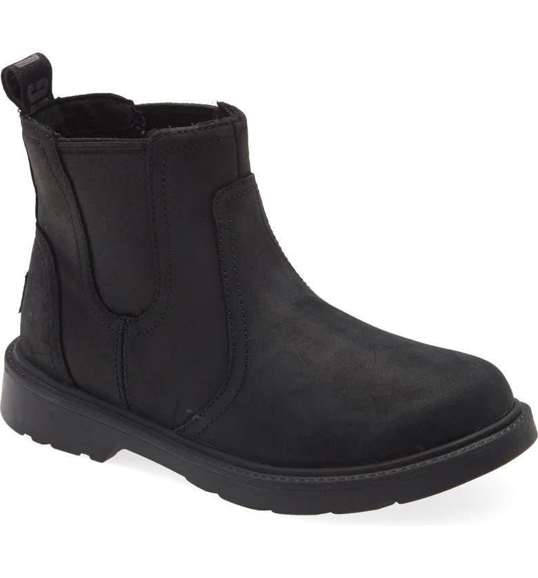UGG<SUP>®</SUP> Bolden Waterproof Chelsea Boot, Main, color, BLACK